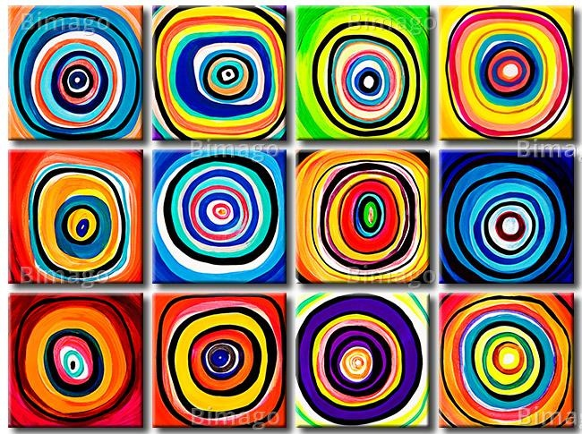 Tableau Cercles en  couleurs