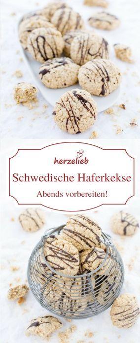 Plätzchen Rezepte - Keks-Rezepte: Haferkekse oder Haferflockenkekse sind ganz leicht zu backen! Das Rezept ist von herzelieb! #foodblog #schweden #deutsch