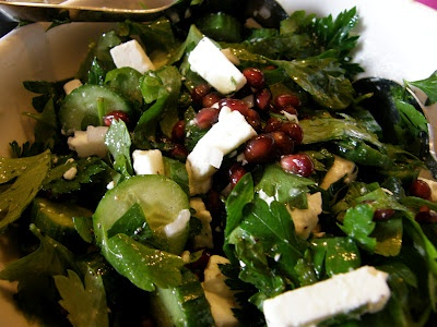 Gurken- Granatapfel- Salat  #glutenfrei #glutenfree