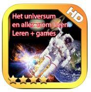 """UNIVERSUM https://itunes.apple.com/nl/app/alles-over-het-universum-leren/id615208429?mt=8 Ben je nieuwsgierig naar het universum? En hou je ook van spelletjes spelen? Je wordt begeleid door Dex. Hij weet alles van het universum en onze planeet. Hij neemt je mee op een reis naar de maan.  Terwijl je door de app """"heen loopt, speelt en zweeft"""" zal je alles vertelt worden over het universum en wat ermee te maken heeft, denk b.v. aan het poollicht hier op aarde of de satellieten en nog veel meer."""