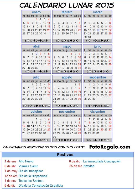 calendario lunar 2015 colombia - Buscar con Google