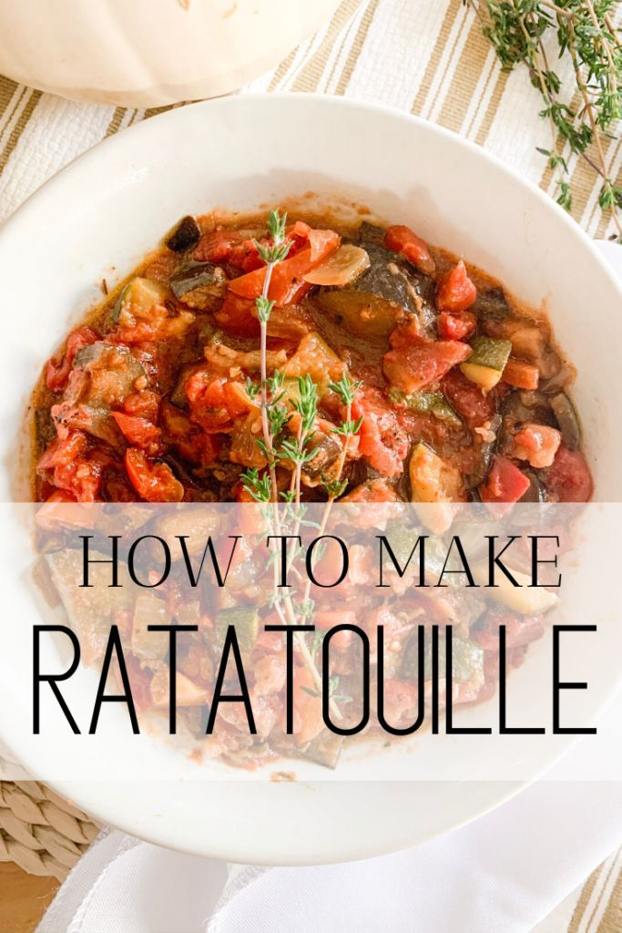 Healthy Ratatouille Recipe In 2020 Homemade Side Dish