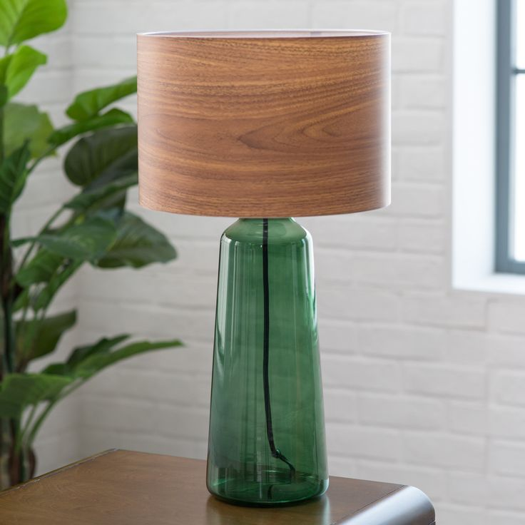 Adesso Jade Tall Table Lamp - Adding a jewel tone to any space, the Adesso Jade Tall Table Lamp is a versatile statement piece, ideal for casual, earthy, and retro rooms. Bulbs not...