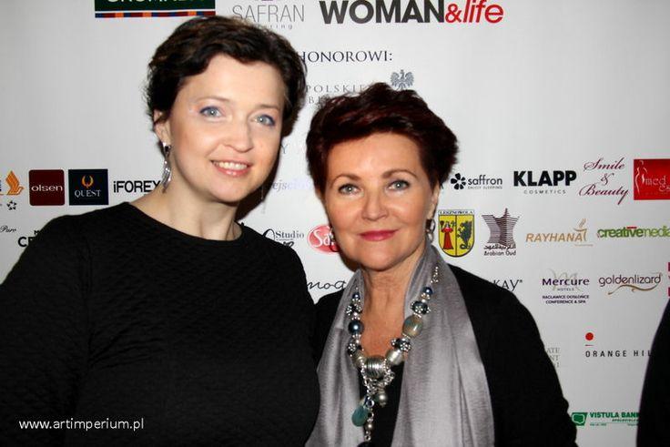 Polski Businesswoman Kongres 2014. fot. Jola Michalak Art Imperium. Na zdjęciu: Jolanta Kwaśniewska i Magdalena Woźńiak.