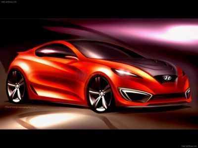 Hyundai Genesis Coupe Concept 2007 poster, #poster, #mousepad, #Hyundai #printcarposter