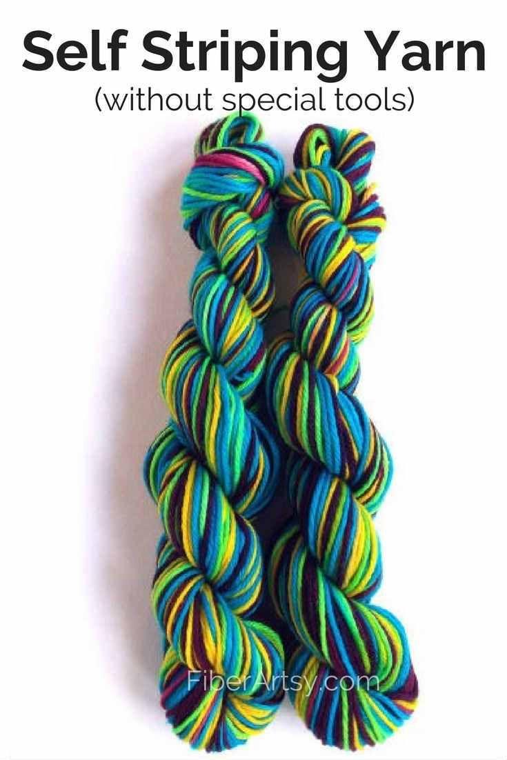 How to dye self striping yarn by dyeing yarn and fabric