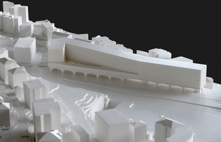 Nuovo Campus Universitario SUPSI Città Alta – Stazione FFS Lugano // by DURISCH + NOLLI, STEFANO BOERI ARCHITETTI - Architectural Model