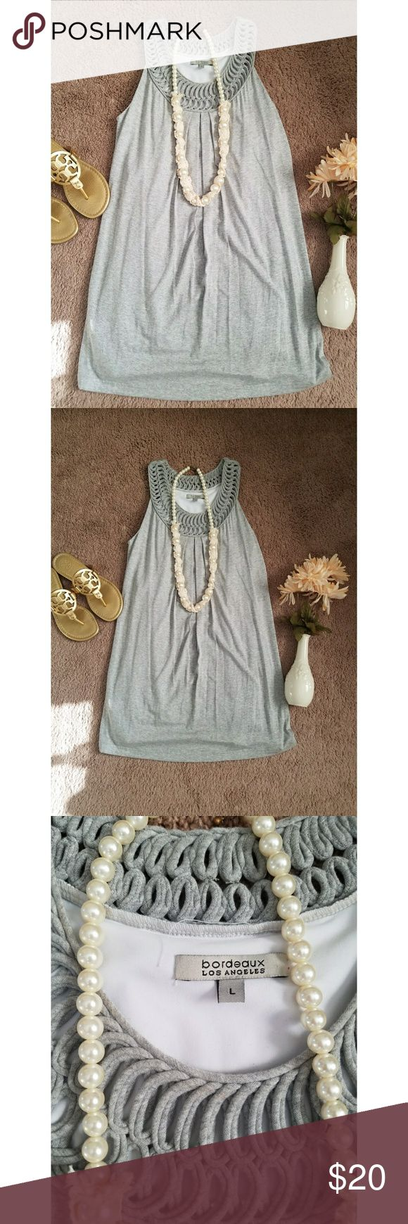 Grey mini dress 🐁 So soft. Perfect for spring and summer. Size large grey mini dress OR tunic. Perfect with leggings or jeggings & a cardi. bordeaux Dresses Mini