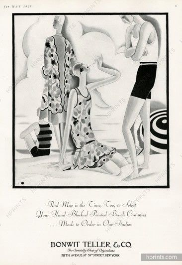 Bonwit Teller 1927 William Bolin, Beach Costumes
