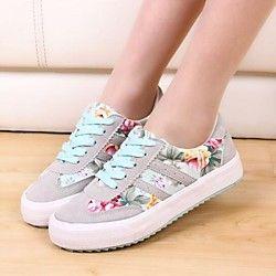 zapatos de las zapatillas de deporte de moda los zapatos de plataforma de la comodidad de la lona de las mujeres más colores disponibles - USD $ 27.99