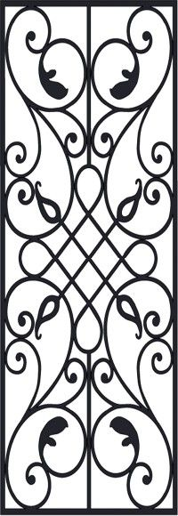 Faux Wrought Iron Close-Up Pattern D2