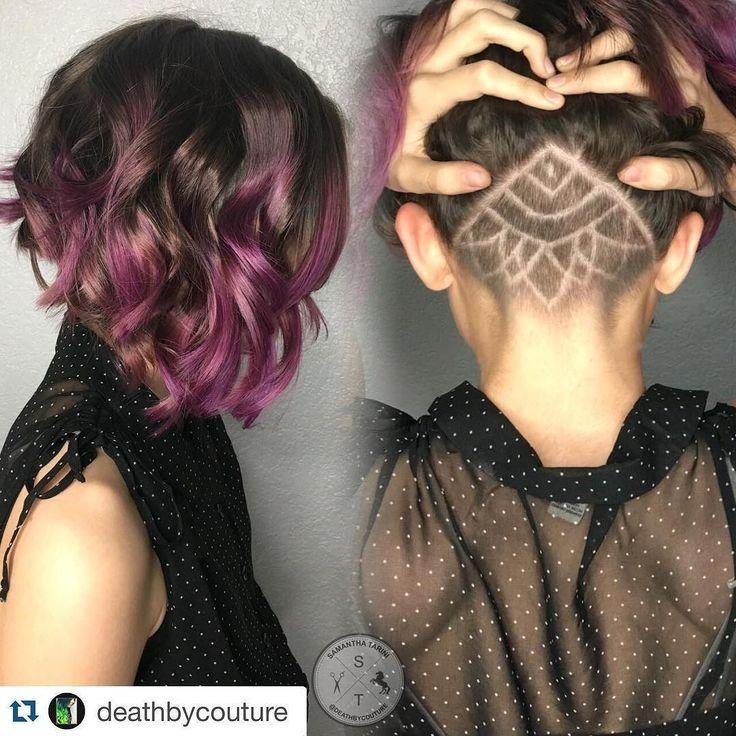 Resultado de imagem para cabelo feminino raspado. Mandalas SocavadoPeinadosBellezaUndercut