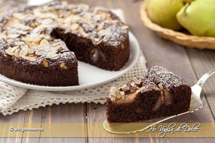 Torta di pere mandorle e cioccolato