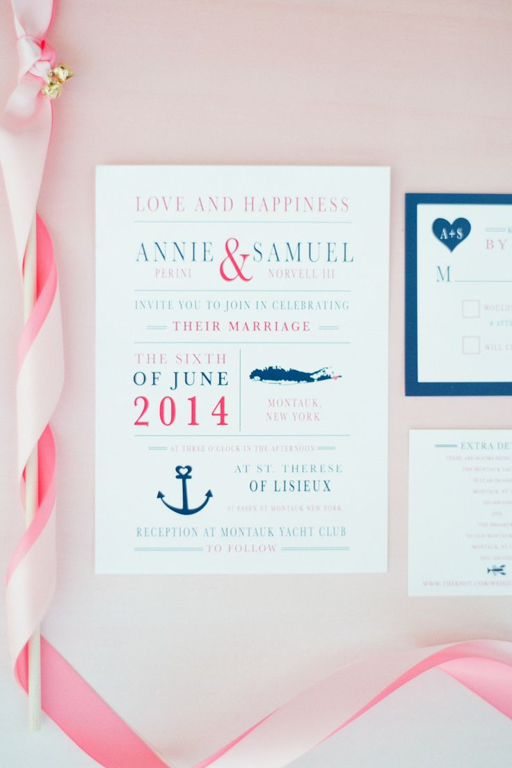 wedding shower invitations omaha%0A Blush and Gold Seaside Wedding in Montauk