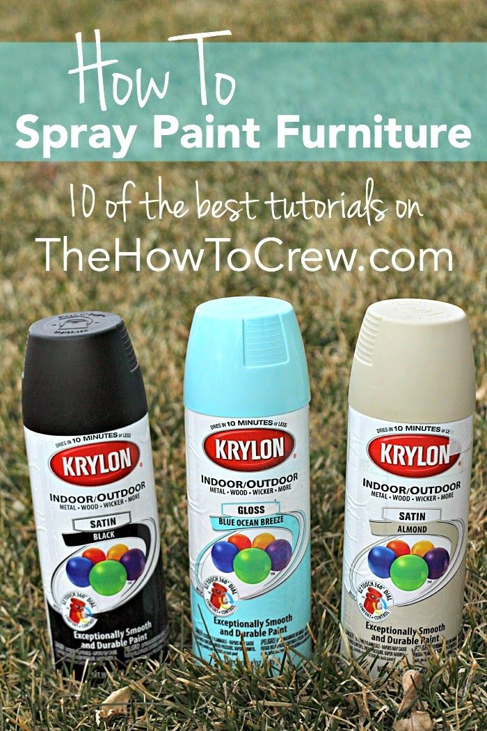 How To Spray Paint Furniture - 10 awesome tutorials on TheHowToCrew.com