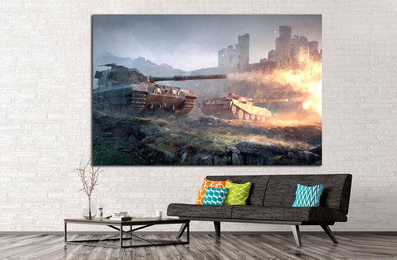 Tank Wall Art Armored Tank Canvas Print Military Tank Canvas