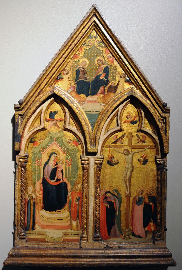 Maestro Daddesco - Madonna col Bambino in trono e Santi; Crocifissione; Incoronazione della Vergine - circa 1340-1350 - Museum of Fine Arts of Boston