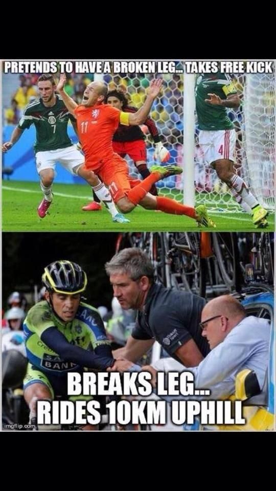 I'm not an AC fan, but the point can be made daily by any cyclist vs any soccer player. Time to revoke Man cards.