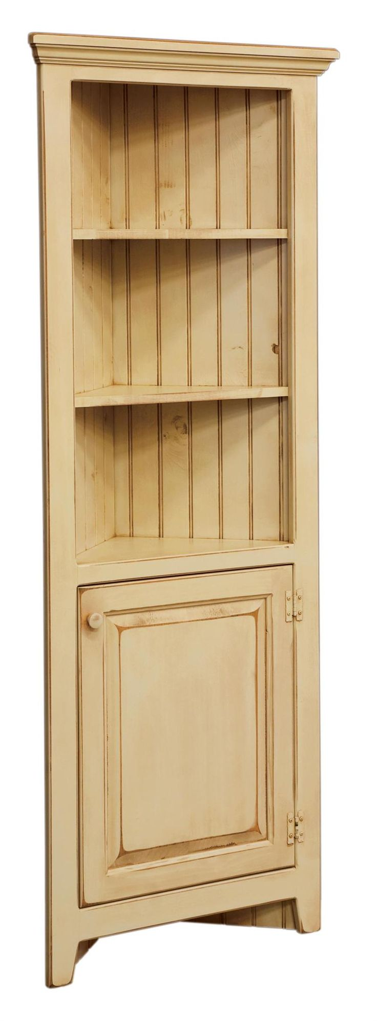 Build Corner Curio Cabinet - WoodWorking Projects & Plans