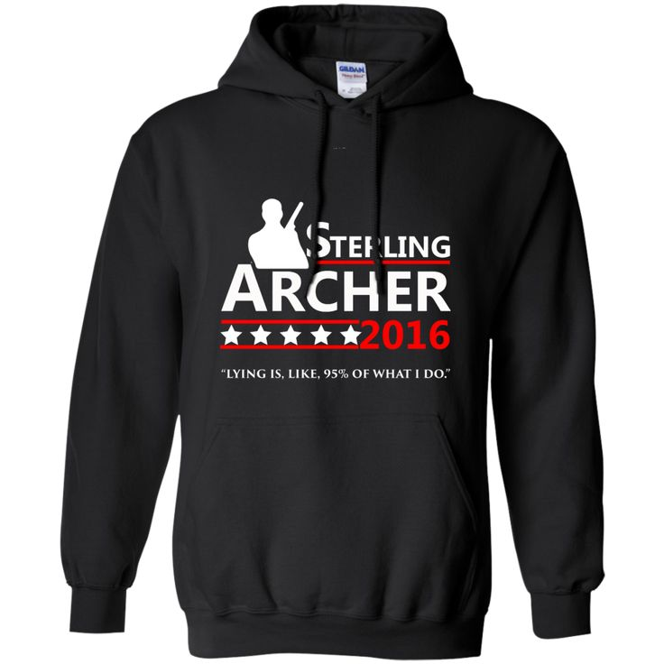 Sterling Archer 2016 Pullover Hoodie 8 oz