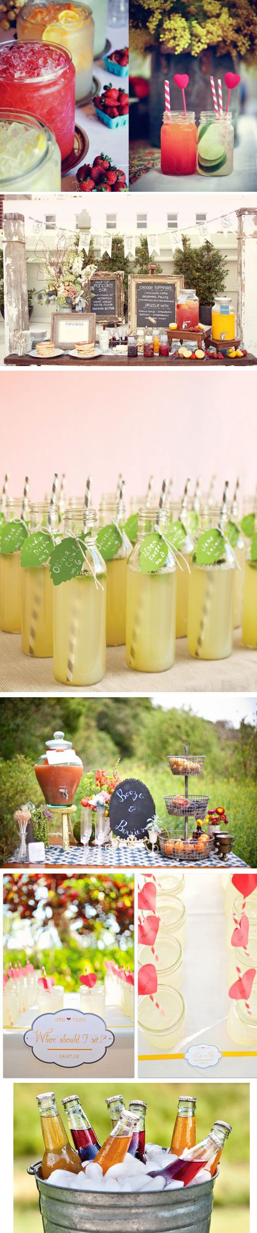 Gorgeous welcome and pre wedding drink ideas
