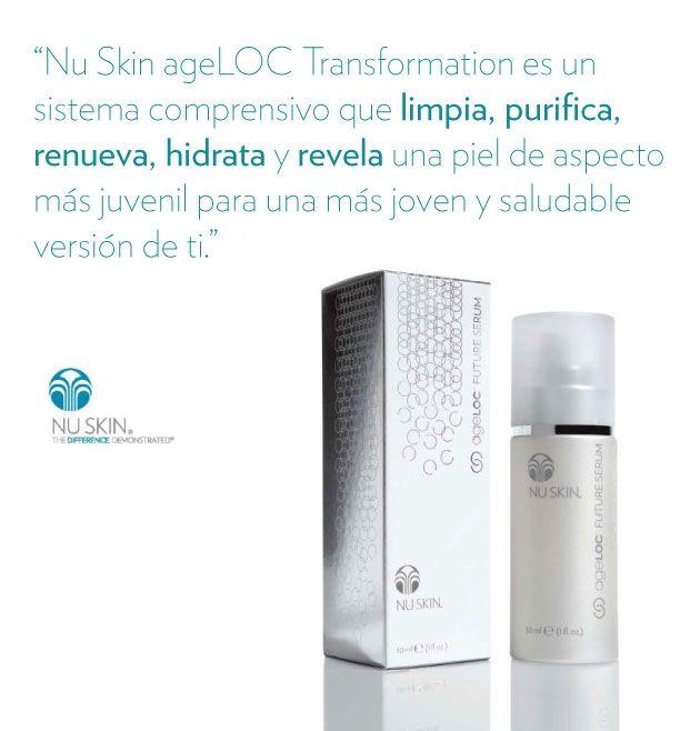 ageLOC Transformation para hidratar, limpiar, tonificar y renovar la piel.