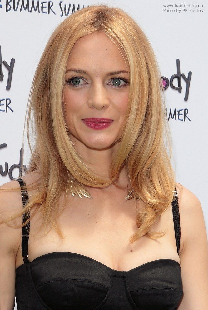 Heather Graham strawberry blonde hair color 2017