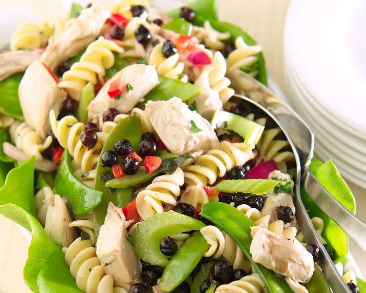 Chicken Pasta Salad with Saskatoon Berries