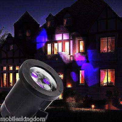 Lampe LED Auto Etanche Projecteur Lumière Jardin Mur Fête Intérieur Extérieur EU