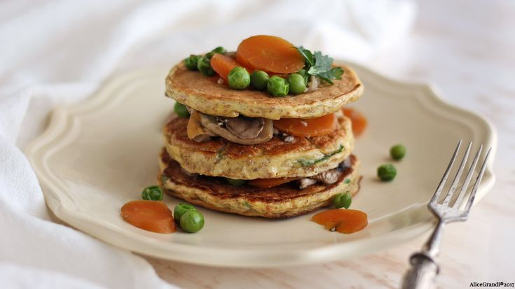 Pancake salati light (proteici e integrali) | Healthy protein pancakes