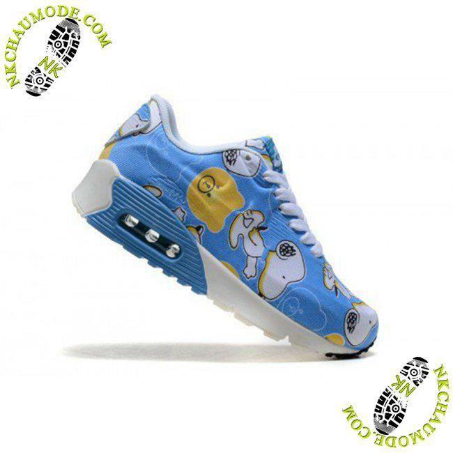 Air Max 90 Enfant Snoopy Bleu Blanc chaussures running nike