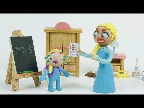 Elsa Bebe esta enferma y visita a la Doctora Juguetes Dibujos Animados Infantiles Con Play Doh - YouTube
