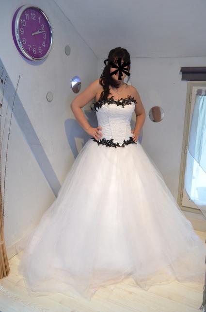 Robe de mariée bicolor
