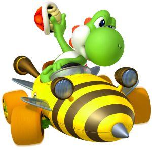 Yoshi looks mean in this pin! Mario Kart 8.  ヽ(`⌒´メ)ノ