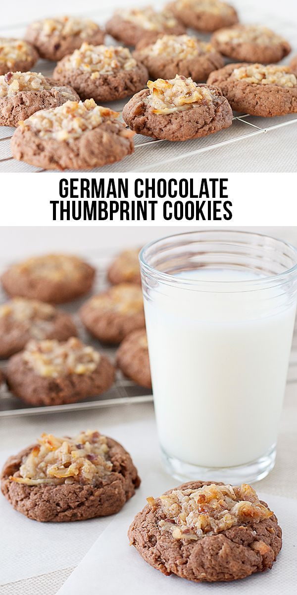 THE BEST German Chocolate Thumbprint Cookies! livelaughrowe.com