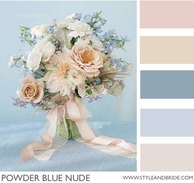 Powder Blue Nude! Pretty for winter wedding. #wedding #bridal #colors