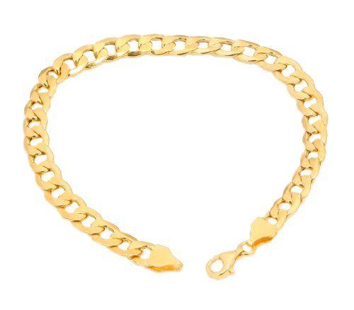 Panzerkette Silber – Ein Klassiker Armband Panzerkette in 18k Gold über plattiert 925 sterling silber Größe 21cm | Your #1 Source for Jewelr...