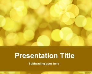 Blurred vision PowerPoint template -free yellow background for PowerPoint presentations with a blurred effect in the slide design