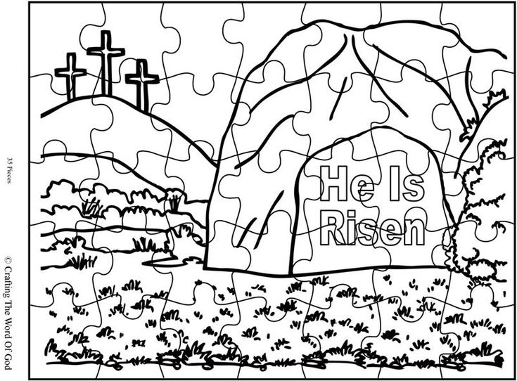 He Is Risen Puzzle Activity Sheet Sheets Are A Great Way To End