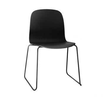 Visu tuoli, metallijalusta, musta
