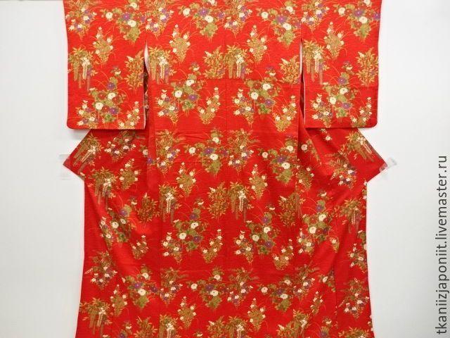 Купить КИМОНО шелковое японское - кимоно, ткань для шитья, ткань для рукоделия, ткань для платья