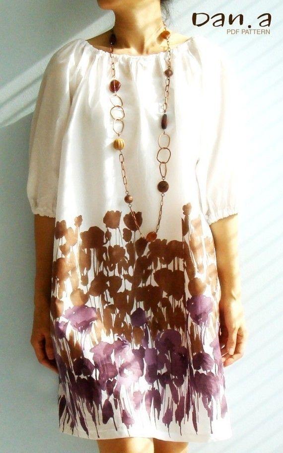 tunic dress PDF pattern.