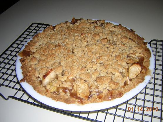 Apple Crisp Made With Apple Pie Filling And Cake Mix