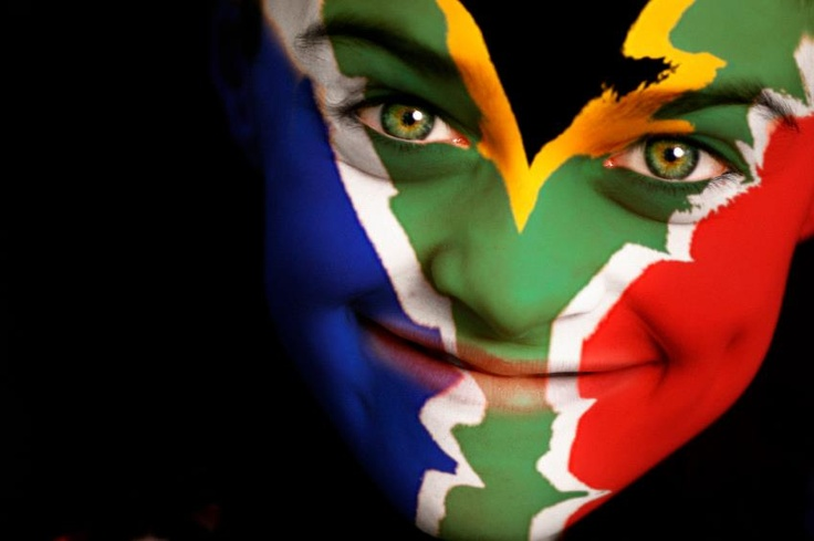 Proudly South African Face-paint :)