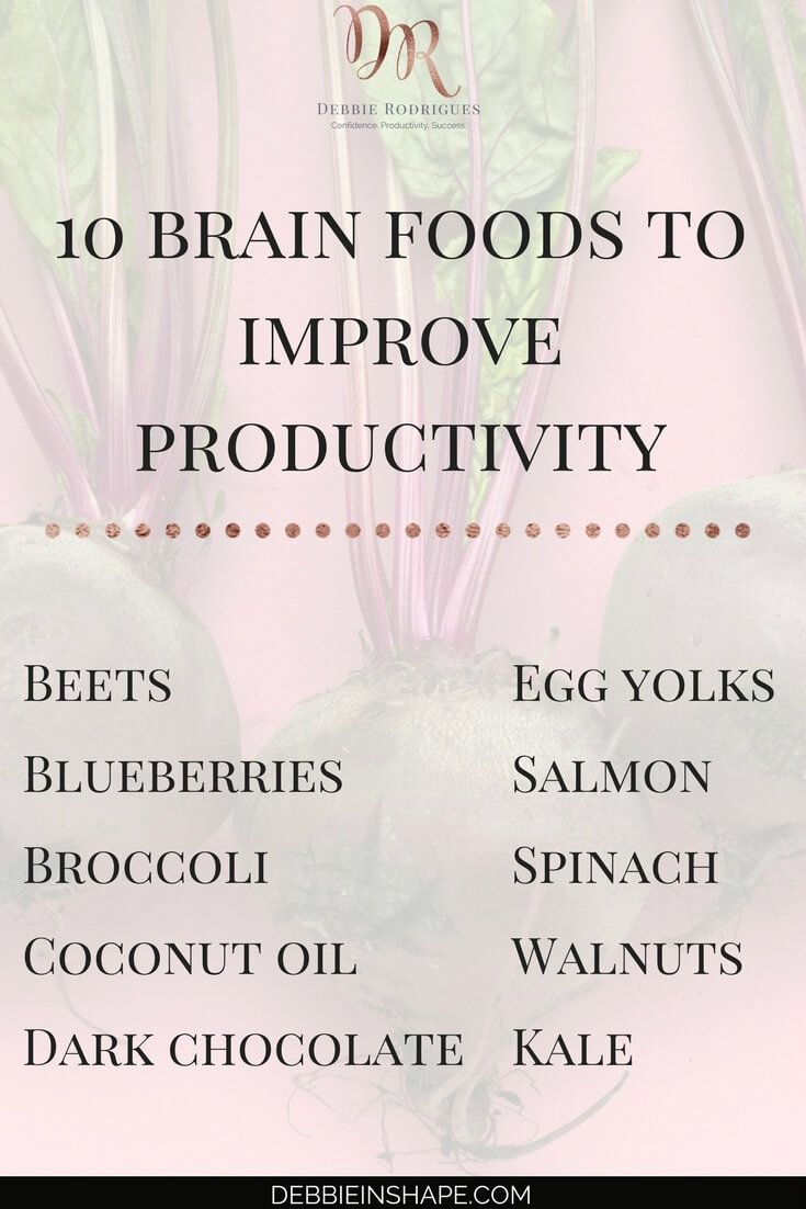 Brain Foods | Healthy Mind and Body #productivity #health