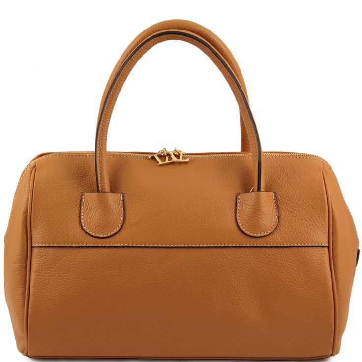 """TL Bag TL141210 Leather """"Bauletto"""" with golden hardware"""
