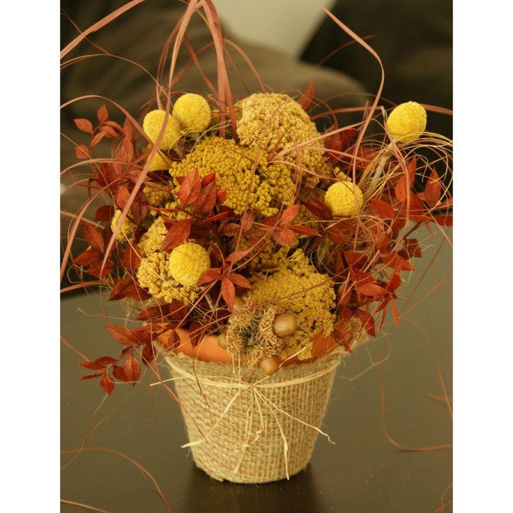 Aranjament plante uscate in ghiveci ceramic