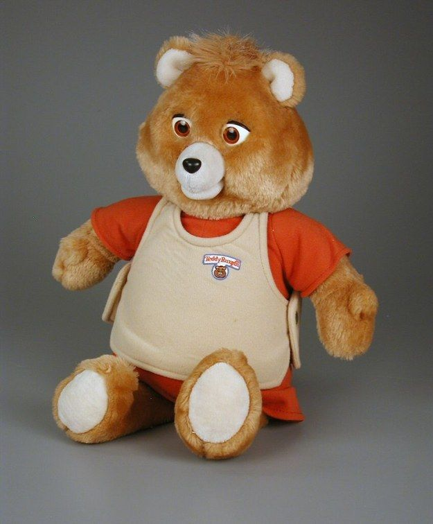 Teddy Ruxpin ... or as I called him at age five: Teddy Rupskin. It made more sense to me. (And at five it was hard to say).