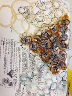 Textiles Sketchbooks , Inspiration for CAPI Students @ milliande.com, GCSE Textiles Sketchbook #textiles #sketchbook #portfolio #art with thanks to Textile Artist Liz Collinson