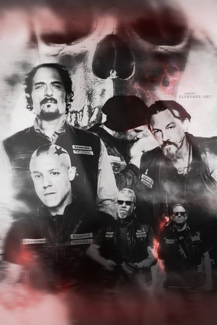 Fan art Sons of Anarchy #SonsofAnarchy #SAMCRO #MenofMayhem #RedwoodOriginal #ReaperCrew #SOA